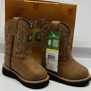 John Deere Infant Sz 4 M Western Boots NEW